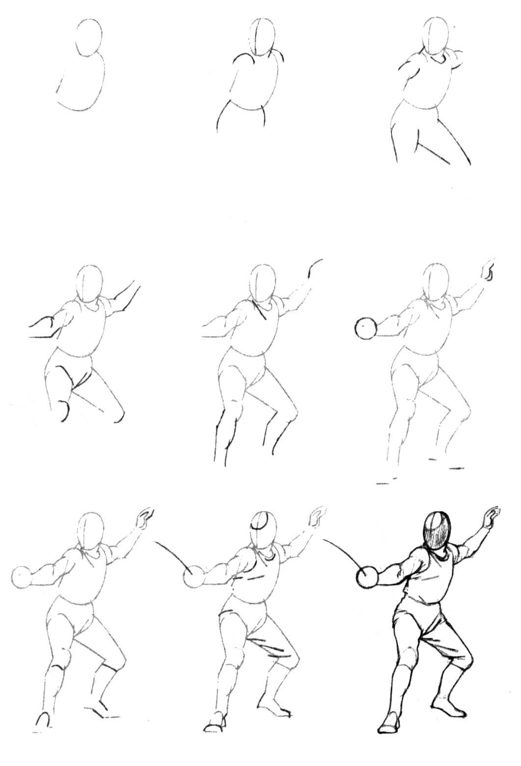 Урок рисования людей в